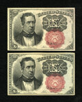 Fractional Currency:Fifth Issue, Fr. 1266 10¢ Fifth Issue Choice About New. Two Examples.... (Total:2 notes)