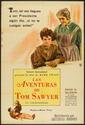 "Movie Posters:Adventure, The Adventures of Tom Sawyer (United Artists, 1938). ArgentineanPoster (29"" X 43""). Adventure.. ..."