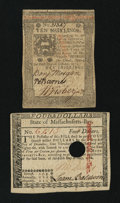 Colonial Notes:Mixed Colonies, Massachusetts May 5, 1780 $4 About New, HC. Pennsylvania October 1,1773 10s EF.. ...