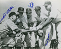 Autographs:Photos, Walt Alston, Sandy Koufax & Karl Spooner Signed Photograph....