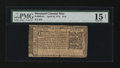 Colonial Notes:Maryland, Maryland April 10, 1774 $1/6 PMG Choice Fine 15 Net....
