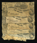 Confederate Notes:1862 Issues, T44 $1 1862. Five Examples.. ... (Total: 5 notes)