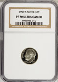 Proof Roosevelt Dimes: , 1999-S 10C Silver PR70 Ultra Cameo NGC. NGC Census: (280/0). PCGSPopulation (42/0). Numismedia Wsl. Price for NGC/PCGS co...