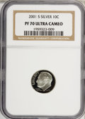 Proof Roosevelt Dimes: , 2001-S 10C Silver PR70 Ultra Cameo NGC. PCGS Population (173/0).Numismedia Wsl. Price for NGC/PCGS coi...