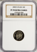 Proof Roosevelt Dimes: , 2003-S 10C Clad PR70 Ultra Cameo NGC. PCGS Population (121/0).Numismedia Wsl. Price for NGC/PCGS coin ...
