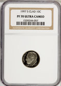 Proof Roosevelt Dimes: , 1997-S 10C Clad PR70 Ultra Cameo NGC. NGC Census: (131/0). PCGSPopulation (68/0). Numismedia Wsl. Price for NGC/PCGS coin...