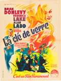 """Movie Posters:Film Noir, The Glass Key (Paramount, Late 1940s). First Post-War Release French Affiche (23.5"""" X 31.5""""). ..."""