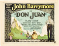 "Movie Posters:Adventure, Don Juan (Warner Brothers, 1926). Title Lobby Card (11"" X 14"").. ..."