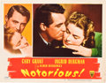 """Movie Posters:Hitchcock, Notorious (RKO, 1946). Lobby Card (11"""" X 14"""").. ..."""