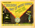 "Movie Posters:Musical, Say it with Songs (Warner Brothers, 1929). Title Lobby Card (11"" X14"").. ..."