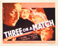 "Movie Posters:Drama, Three on a Match (Warner Brothers, 1932). Title Lobby Card (11"" X14"").. ..."