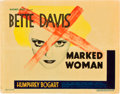 "Movie Posters:Crime, Marked Woman (Warner Brothers, 1937). Title Lobby Card (11"" X14"").. ..."