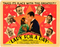 """Movie Posters:Comedy, Lady for a Day (Columbia, 1933). Title Lobby Card (11"""" X 14"""").. ..."""