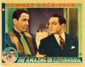 "Movie Posters:Crime, The Amazing Dr. Clitterhouse (Warner Brothers, 1938). Lobby Card(10.875"" X 13.75"").. ..."