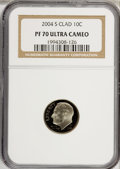 Proof Roosevelt Dimes, 2004-S 10C Clad PR70 Ultra Cameo NGC. PCGS Population (75/0).Numismedia Wsl. Price for NGC/PCGS coin i...