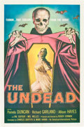 """Movie Posters:Horror, The Undead (American International, 1957). One Sheet (27"""" X 41"""").. ..."""
