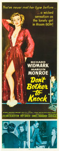 "Movie Posters:Thriller, Don't Bother to Knock (20th Century Fox, 1952). Insert (14"" X36"").. ..."