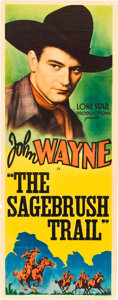 "Movie Posters:Western, The Sagebrush Trail (Monogram, 1933). Stock Insert (14"" X 36"")....."