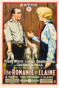 """Movie Posters:Serial, The Romance of Elaine (Pathé, 1915). One Sheet (27"""" X 41"""") Chapter12 -- """"The Triumph of Elaine."""". ..."""
