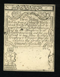 Colonial Notes:Rhode Island, Rhode Island August 22, 1738 3s Cohen Reprint Choice About New....