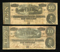 Confederate Notes:1864 Issues, T68 $10 1864. Two Examples. Advertising Note and The Lost Cause Poem Represented.. ... (Total: 2 notes)