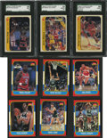 Basketball Cards:Lots, 1986/87 Fleer Basketball Cards/Stickers Collection (123Different)....