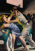 Paintings, HUGH JOSEPH WARD (American, 1909-1945). Private Detective Stories, pulp cover, November 1939. Oil on canvas. 30 x 21 in....