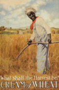 Paintings, HARRY S. BENTON (American, b. 1887). What Shall the Harvest Be?, Cream of Wheat ad illustration, 1907. Oil on board. 22....