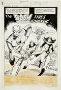 Original Comic Art:Splash Pages, Joe Staton Showcase #94 Doom Patrol Splash page 1 OriginalArt (DC, 1977)....