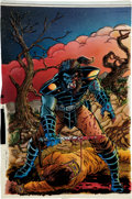 Original Comic Art:Miscellaneous, Thom O'Connor Planet of the Apes: Blood of the Apes #4 CoverHand-Colored Blueline Original Art (Adventure Comics,...