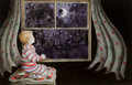 Mainstream Illustration, ERROL LE CAIN (English, 1941-1989). Goodnight Moon, 1987.Watercolor on board. 10 x 15.5 in.. Signed lower left. ...