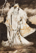 Works on Paper, YVONNE GILBERT (English, 20th Century). White Queen. Graphite and colored pencil on paper. 15 x 10 in.. Not signed. ...
