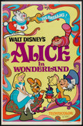 "Movie Posters:Animated, Alice in Wonderland (Buena Vista, R-1974). One Sheet (27"" X 41"").Animated.. ..."