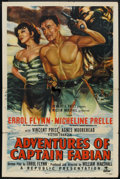 "Movie Posters:Swashbuckler, Adventures of Captain Fabian (Republic, 1951). One Sheet (27"" X 41""). Swashbuckler.. ..."