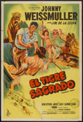 "Movie Posters:Adventure, Voodoo Tiger (Columbia, 1952). Argentinean Poster (29"" X 43"").Adventure.. ..."