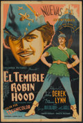 "Movie Posters:Adventure, Rogues of Sherwood Forest (Columbia, 1950). Argentinean Poster (29""X 43""). Adventure.. ..."