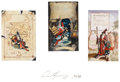 Pulp, Pulp-like, Digests, and Paperback Art, DEAN MORRISEY (American, 20th Century). Kedrigern CoverPreliminary Triptych, c. 1988. Oil on board. 7 x 4 in.. Signedb...