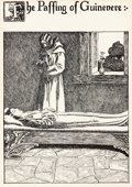 Mainstream Illustration, HOWARD PYLE (American, 1853-1911). The Passing of Guinevere, TheStory of the Grail and the Passing of Arthur illustration...