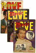 Golden Age (1938-1955):Miscellaneous, Personal Love/Movie Love Group (Famous Funnies, 1951-55) Condition: Average VF-.... (Total: 7 Comic Books)