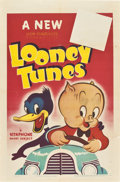 "Movie Posters:Animated, Looney Tunes (Warner Brothers, 1940-41). Stock One Sheet (27"" X 41"").. ..."