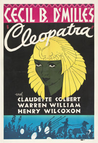 """Cleopatra (Paramount, 1934). Leader Press One Sheet and Press Proofs (2) (27"""" X 41""""). ... (Total: 3 Items)"""