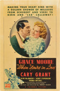 """Movie Posters:Romance, When You're in Love (Columbia, 1937). Midget Window Card (8"""" X12"""").. ..."""
