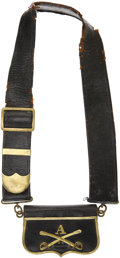 Military & Patriotic:Indian Wars, Circa 1880 Cavalry Officer's Baldric and Cartridge Box....