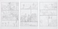 Original Comic Art:Miscellaneous, Michael Dubisch The Boxcar Children: Surprise Island PagePreliminary Sketch Original Art, Group of 6 (Magic Wagon... (Total:6 Items)