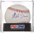 Autographs:Baseballs, Monte Irvin Single Signed Baseball PSA Mint 9. ...