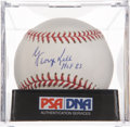 Autographs:Baseballs, George Kell Single Signed Baseball PSA NM-MT+ 8.5. ...