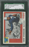 Football Cards:Singles (1950-1959), 1955 Topps Ace Parker SP #84 SGC 84 NM 7....