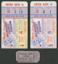 Baseball Collectibles:Tickets, 1957 World Series Ticket Stubs Lot of 2.... (Total: 2 items)