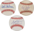 Autographs:Baseballs, Hall of Fame Pitchers Single Signed Baseballs Lot of 3.... (Total:3 items)