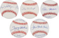 Autographs:Baseballs, Baseball Stars Single Signed Baseballs Lot of 5.... (Total: 5items)